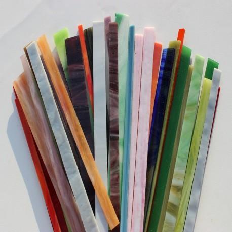 Opalescentglas (Tiffany Glas) gemischt für Mosaiktechnik