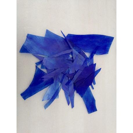 Burchglas Blau