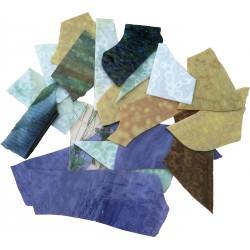 Bruchglas Blau Beige