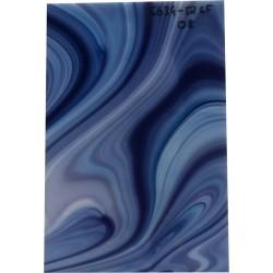 Opalecentglas weiß-blau-grau