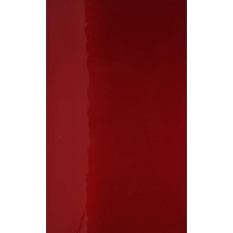 Antikglas Signal Rot mundgeblasen