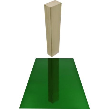 Antikglas Grün Spiegel mundgeblasen