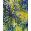 Uroboros - transparent blau weiß gelb - gemottelt
